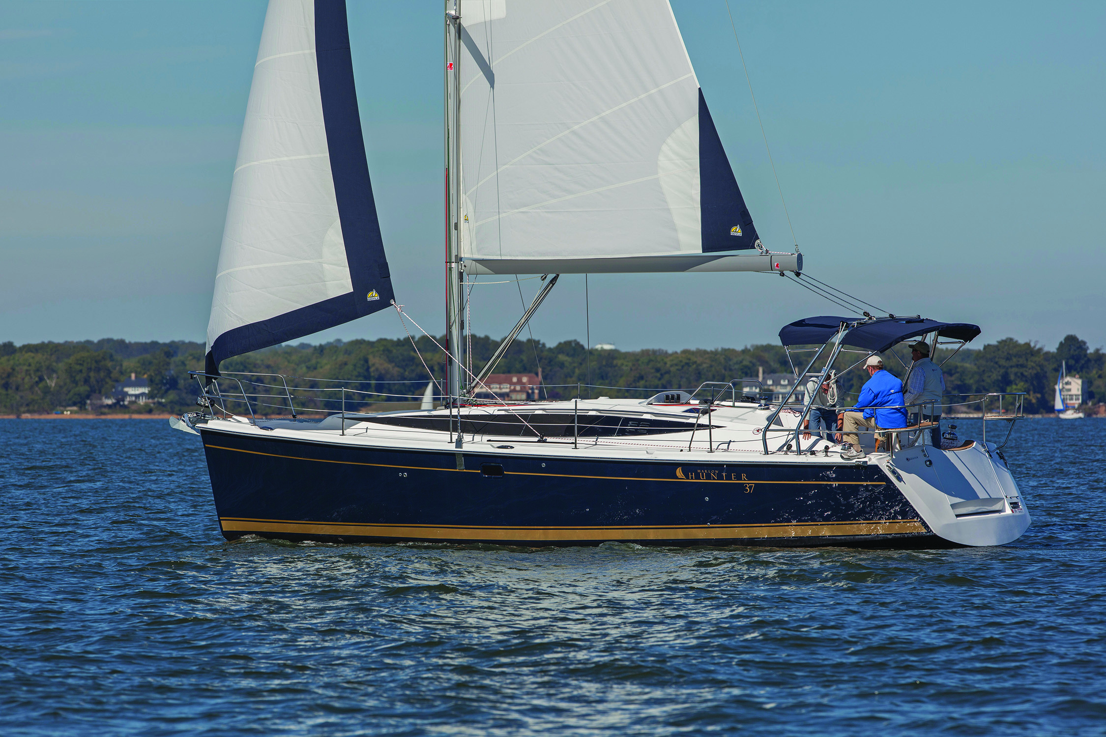 Hunter 37 sailing in Annapolis, MD.