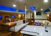 Interiors onboard Hunter 37 in Annapolis, MD.