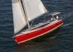 Hunter 40 sailing in Biscayne Bay, Miami FL.