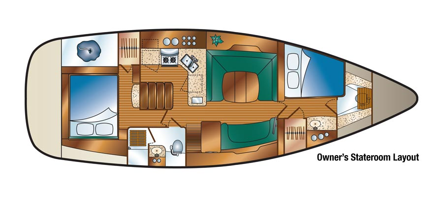 The 41 Deck Salon Room With A View on One Room Cabin Floor Plans
