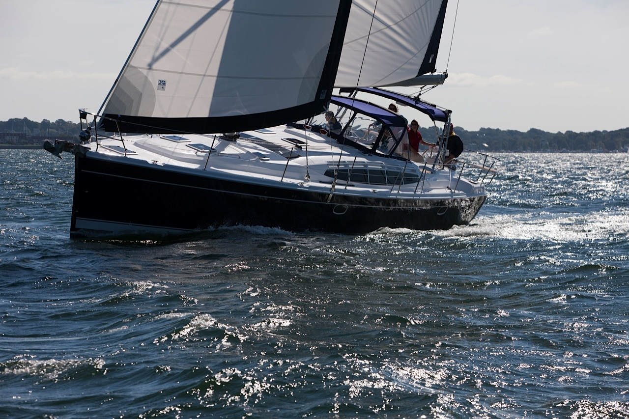 50AC Blue Hull Sailing Port Run