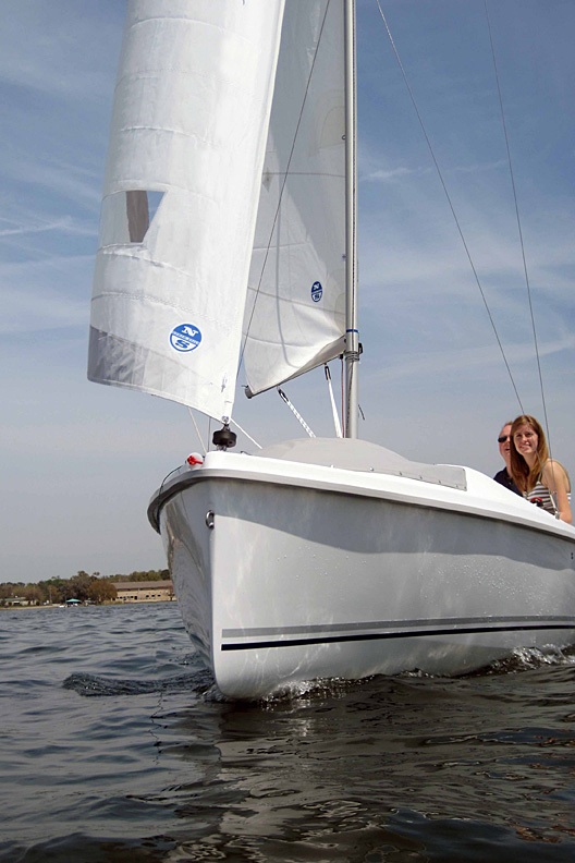 An 18 Year Old Woman Standing In Front Of A Mirror Stock: The 18 – Much More Than A Daysailer