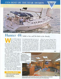 Cruising World Boat of the Year Marlow Hunter 50